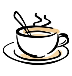 Hot cup of coffee vector image vector image