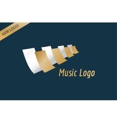 Music piano keys logo icon template melody vector