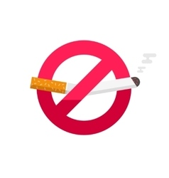 No smoking sign dont smoke icon badge vector image vector image