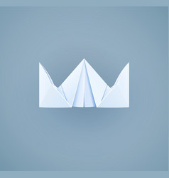 Paper royal crown handicraft vector