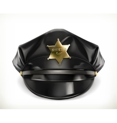Peaked cap icon vector image vector image