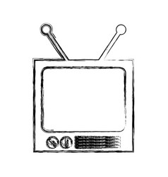 Retro tv isolated icon vector