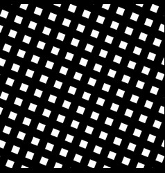 seamless pattern slanting grid in black and white vector image vector image