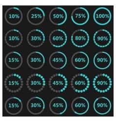 Set round indicators vector image