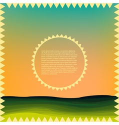 Sunrise over the hills vector image