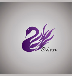 swans ideas design on background vector image vector image