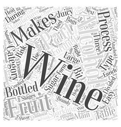 The process of manufacturing wine word cloud vector