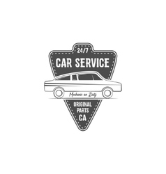 Vintage car service label design automotive vector