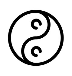 Yin yang icon outline modern design element vector