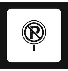 Parking is prohibited icon simple style vector