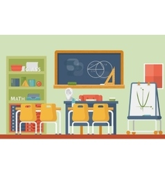 Mathematic geometry school classroom interior vector