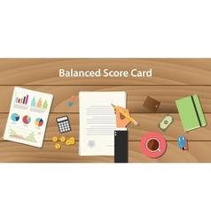 Balanced score card concept with vector