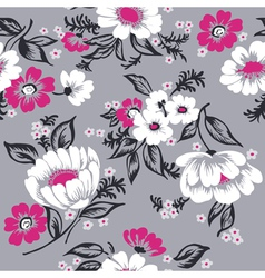 Seamless Floral Background Beautiful Set vector image