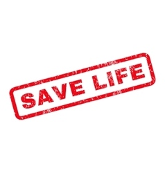 Save life rubber stamp vector