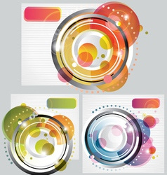 Set of modern abstract backgrounds vector