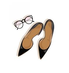 Black High Heels stiletto shoes vector image
