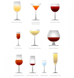 Alcoholic drink vector