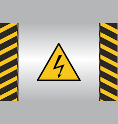 warning hazard signs vector image