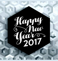 Happy new year 2017 elegant silver background vector