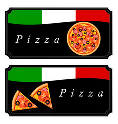 The theme pizza vector