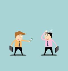 Businessman trading fail vector
