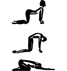 Yoga Cat-Cow Pose vector image