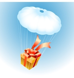 Gift on Parachute vector image