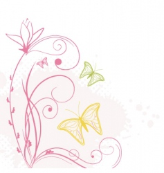 Cute butterflies vector