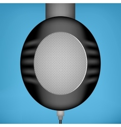 Black headphones side view vector