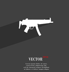 Machine gun icon symbol flat modern web design vector