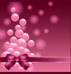 Pink small balls and decorative tape on colorful vector