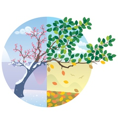 Seasons cycle vector