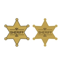 Wild west sheriff star color vector