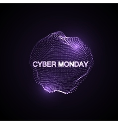 Cyber monday promotional poster vector