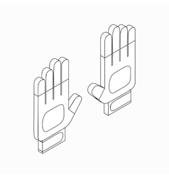 White sport gloves icon isometric 3d style vector