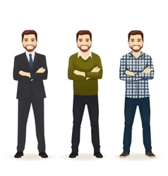 Set of man in different clothes vector