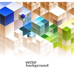 Abstract cubic banners vector image