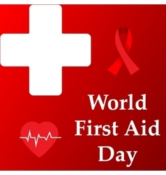 Abstract for world first aid day vector