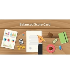 Balanced score card concept with vector