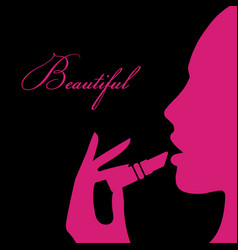 beauty girl silhouette vector image