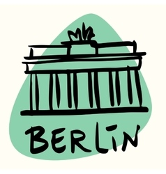 Berlin the capital of Germany vector image
