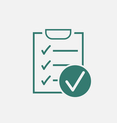 Checklist icon survey in flat design on white vector
