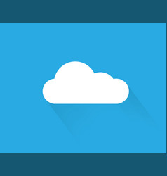 cloud sky icon cloud icon on sky background flat vector image vector image