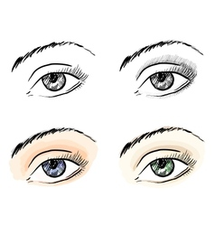 Eyes pattern set vector image