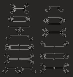 Hand-drawn vintage design elements set vector