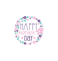happy mothers day logo template label with vector image