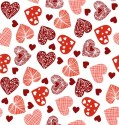 hearts cheerful pattern with hearts vector image