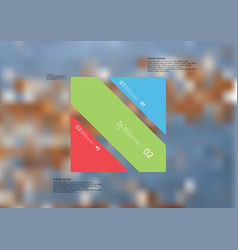 Infographic template with rectangle askew divided vector
