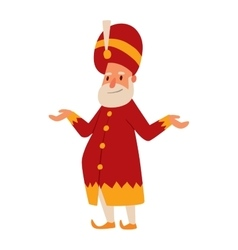 King cartoon character vector image vector image