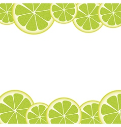 Lemon slices under accommodated on each other vector